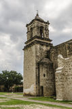 Old church bell tower at Mission San Jose in San Antonio, Texas Royalty Free Stock Photos