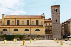 Old Church and Bell Tower in Rijeka Royalty Free Stock Photos