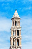 Old church bell tower in Split old town in Croatia Stock Photo