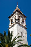 Old church belltower in ancient part of Trogir Royalty Free Stock Photos