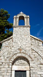 Old church belltower in village Royalty Free Stock Photo