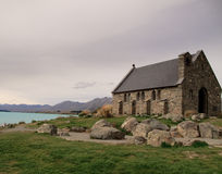 Old church besides Lake Tekapo Royalty Free Stock Photography