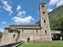 Old church in Biasca Royalty Free Stock Image