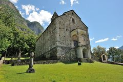 Old church in Biasca Stock Photography