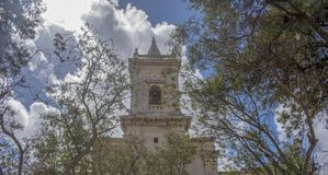 Old church Birkirkara Malta. Old church in Birkirkara Malta located in a quiet area near the park Royalty Free Stock Photos