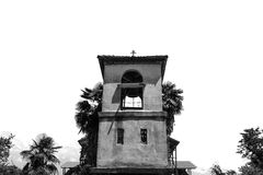 Old church black and white Royalty Free Stock Photography