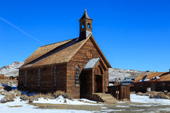 Old church in Bodie, California, USA.. Royalty Free Stock Photos
