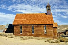 Old church in Bodie State Historic Park. Royalty Free Stock Images