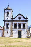 Old church in Brazil. Exterior of the oldest church, Capela de Santa Rita (Chapel of Saint Rita), in the historic city of Paraty (Parati), Brazil Stock Photo