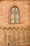 Old church brick wall background Royalty Free Stock Photos