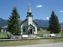 Old Church in British Columbia Canada royalty free stock photo