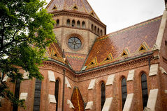 Old church in Budapest Hungary. In spring Royalty Free Stock Images