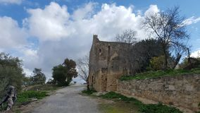 Old church. Building in the countryside, Crete Royalty Free Stock Images