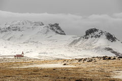 Old church building Iceland Stock Photo
