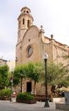 Old church in Calella. Costa del Maresme. Stock Image