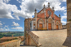 Old church in Castiglione Falletto, Italy. Stock Photo
