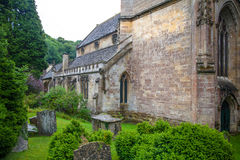 Old church in Castle Combe, unique old English village. Stock Images