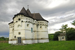 Old church-castle in Sutkivtsi Royalty Free Stock Photos