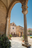 Old church cefalù - Sicily. Old Arcade under church in cefalù - Sicily Stock Photography