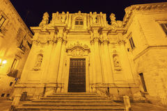 Old church in the center of Lecce Stock Photography