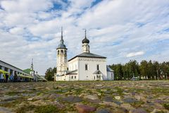 Old Church on the Central trade square of Suzdal. Historical places of Russia. Old Church on the Central trade square of Suzdal. Historical places of Russia royalty free stock photo