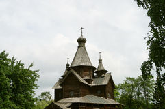Old Church-a Church built of wood without a single nail, the Russian village Stock Photos