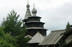 Old Church-a Church built of wood without a single nail, the Russian village Royalty Free Stock Image