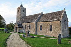 Old Church and Churchyard. Historic Saint Leonard's Church in Farleigh Hungerford near Bath in Somerset England Stock Images