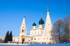 The old church of the city of Yaroslavl in winter Stock Image