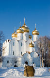 Old church of the city of Yaroslavl in winter Stock Images