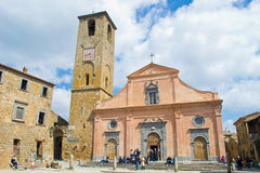 Old church in Civita Bagnoregio Stock Photography