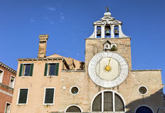 Old church clock in Venice Stock Image