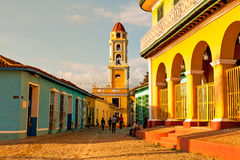 Old church in the colonial town of Trinidad, cuba Royalty Free Stock Photos
