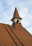 Old church with corrugated iron roof. Royalty Free Stock Photography