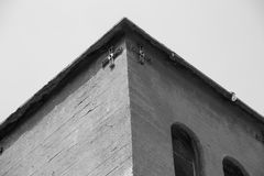 Old Church And Cross Stock Photography