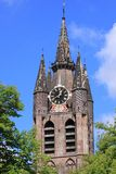 Old church in Delft Stock Photo