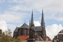 Old church in Delft Stock Photos