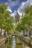 Old Church of Delft, Holland Royalty Free Stock Photos