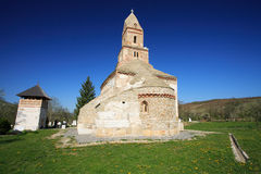 Old church of Densus, Romania. Although documentary dated to XIII century, the archeologists discovered elements revealing that the Densus church was built in Royalty Free Stock Photos