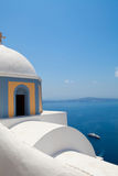 Old church dome in Thira, Santorini Royalty Free Stock Photography