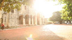 Old Church Dominican Republic Glidecam Shot stock video footage