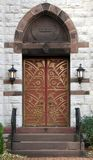 Old Church Door Stock Photo
