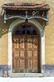 Old church door. Old church of orthodox church from Merisor village, Hunedoara County Stock Image