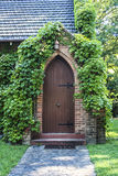 Old church door covered with ivy Royalty Free Stock Images