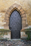 Old church door. In Czech Royalty Free Stock Photo