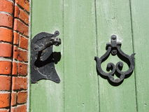 Old church door handle Royalty Free Stock Photos