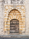 Old church door near beirut lebanon Royalty Free Stock Image