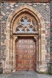 Old church door. In Prague Royalty Free Stock Photos