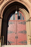 Old church doors with imposing hardware Stock Image