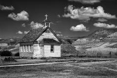Old Church, Dorothy Alberta. Our Lady of Perpetual Help Roman Catholic Church Dorothy AB near Drumheller Royalty Free Stock Photos